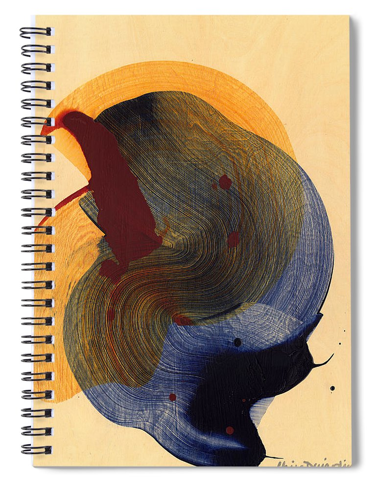 Abstract Spiral Notebook featuring the painting Socal 03 by Claire Desjardins