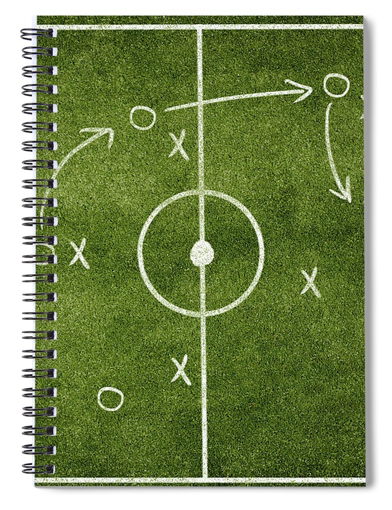 Rectangle Spiral Notebook featuring the photograph Soccer Strategy by Goldmund