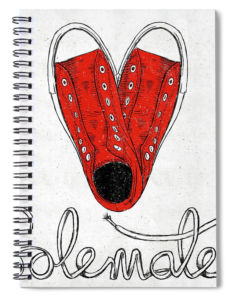 Sole Spiral Notebook featuring the painting Sole Mate by Sd Graphics Studio
