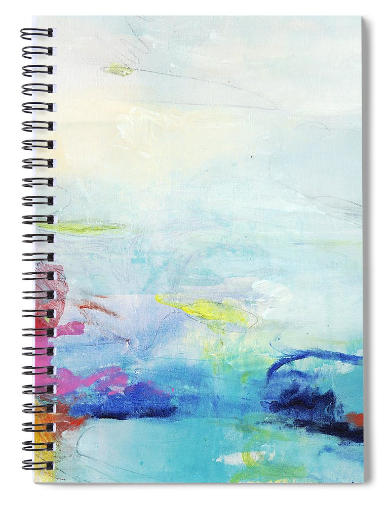 Abstract Spiral Notebook featuring the painting Somewhere Else by Claire Desjardins