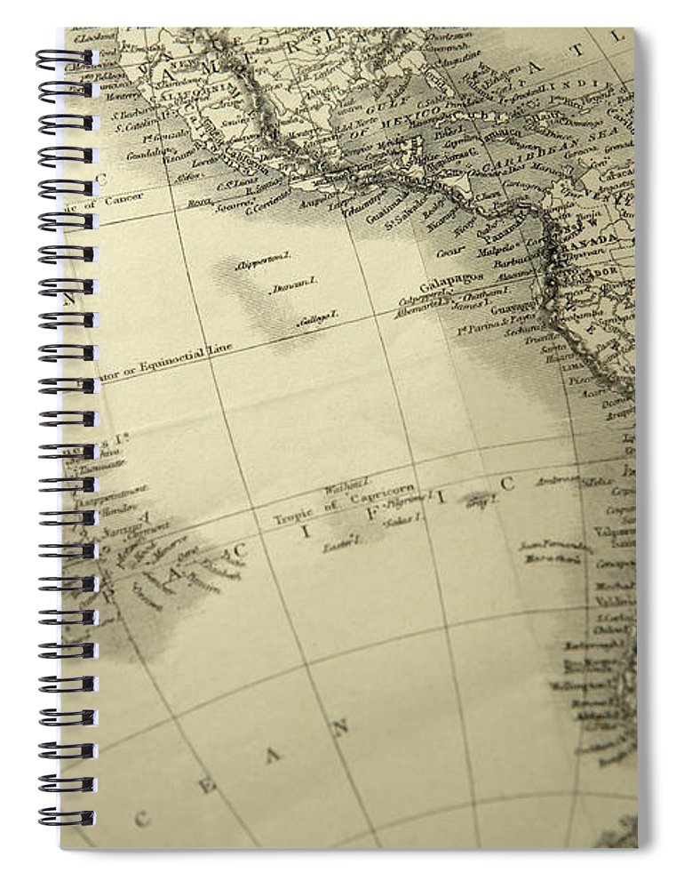 Amazon Rainforest Spiral Notebook featuring the photograph South America by Belterz