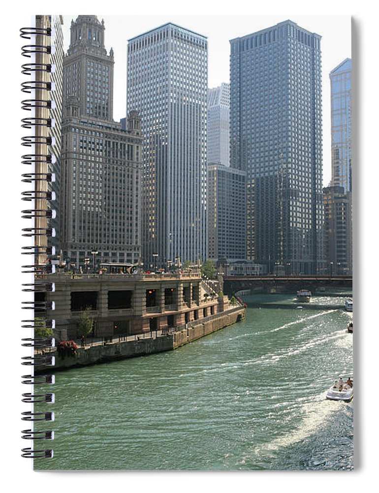 Downtown District Spiral Notebook featuring the photograph Spectacular Chicago Downtown by Ekash