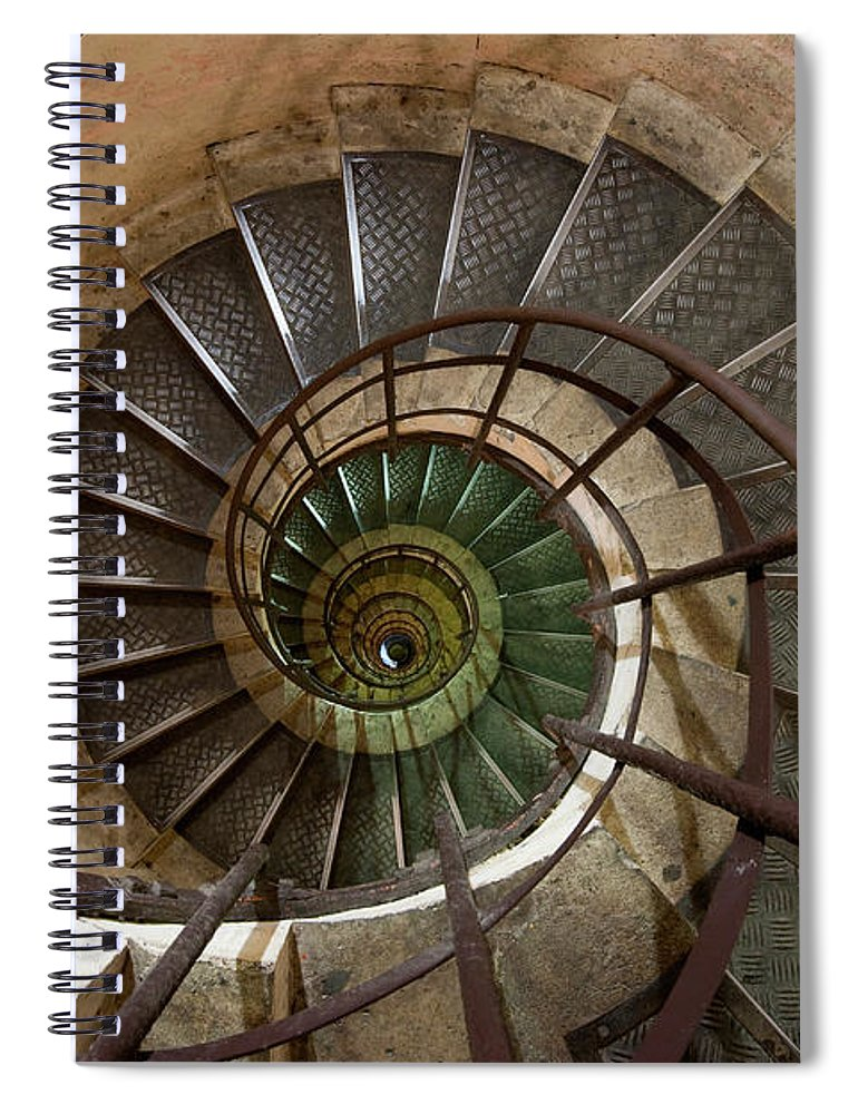 Built Structure Spiral Notebook featuring the photograph Spiral Staircase In The Arc De by Mint Images/ Art Wolfe
