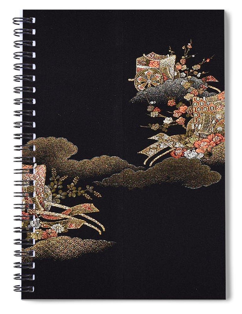 Spiral Notebook featuring the digital art Spirit of Japan H29 by Miho Kanamori