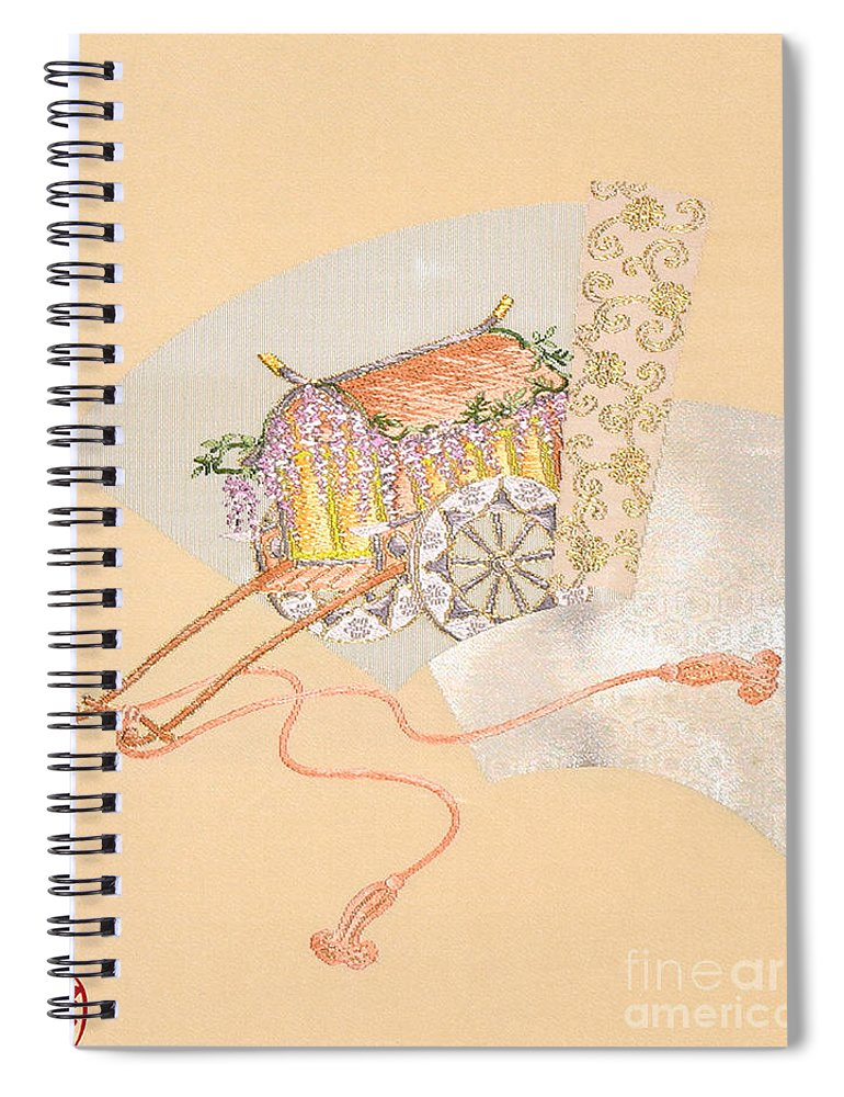 Spiral Notebook featuring the digital art Spirit of Japan O12 by Miho Kanamori