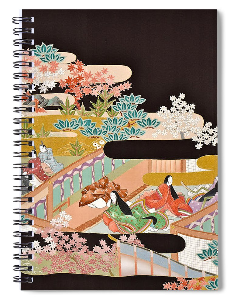 Spiral Notebook featuring the digital art Spirit of Japan T18 by Miho Kanamori