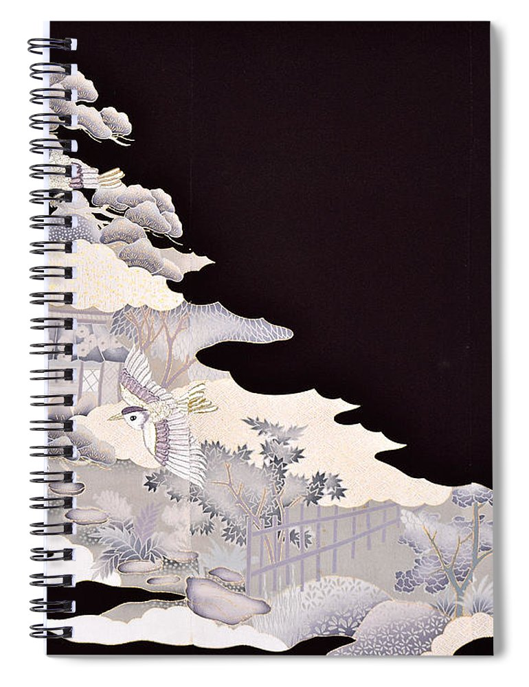Spiral Notebook featuring the digital art Spirit of Japan T19 by Miho Kanamori