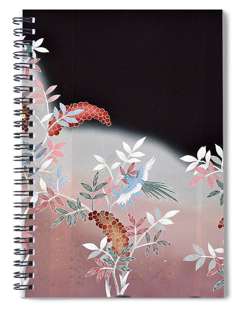 Spiral Notebook featuring the digital art Spirit of Japan T47 by Miho Kanamori
