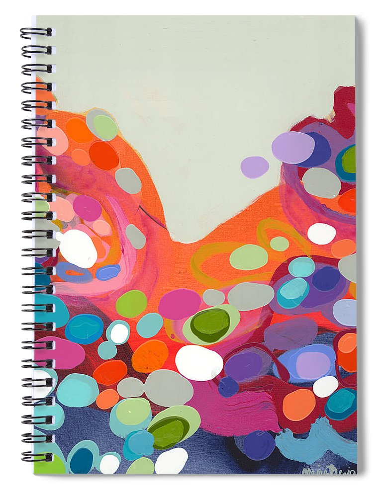 Abstract Spiral Notebook featuring the painting Spoonful Of Joy by Claire Desjardins