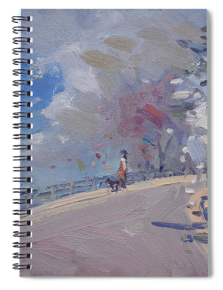Spring Spiral Notebook featuring the painting Spring 2019 by Ylli Haruni
