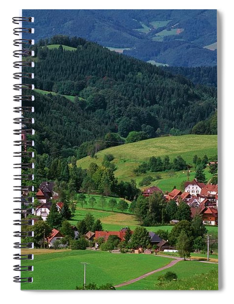 Architectural Feature Spiral Notebook featuring the photograph St. Peters Abbey, Black Forest, Germany by Bilderbuch  / Design Pics