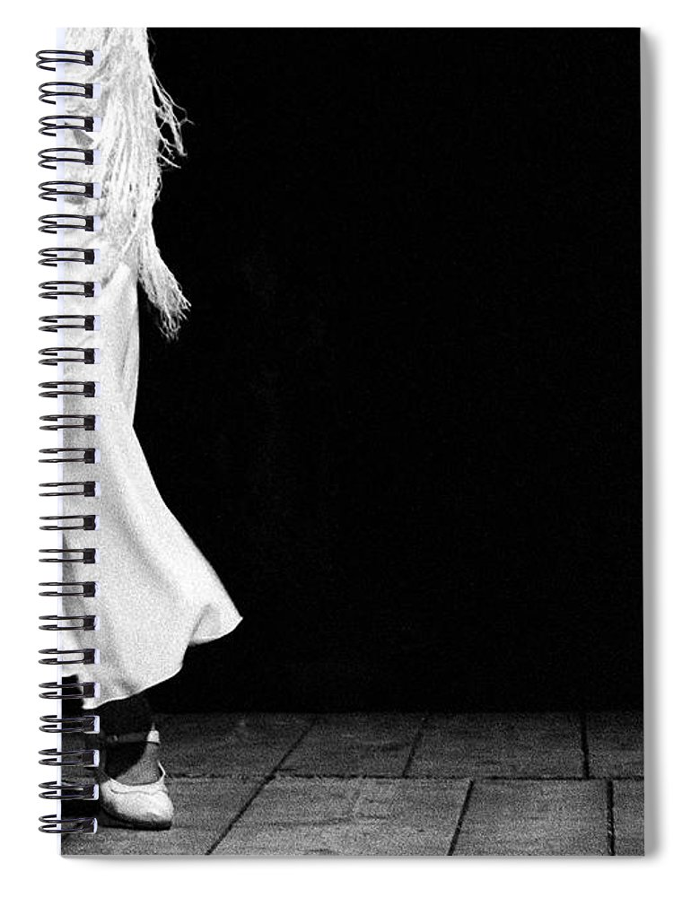 Ballet Dancer Spiral Notebook featuring the photograph Starting Flamenco by T-immagini