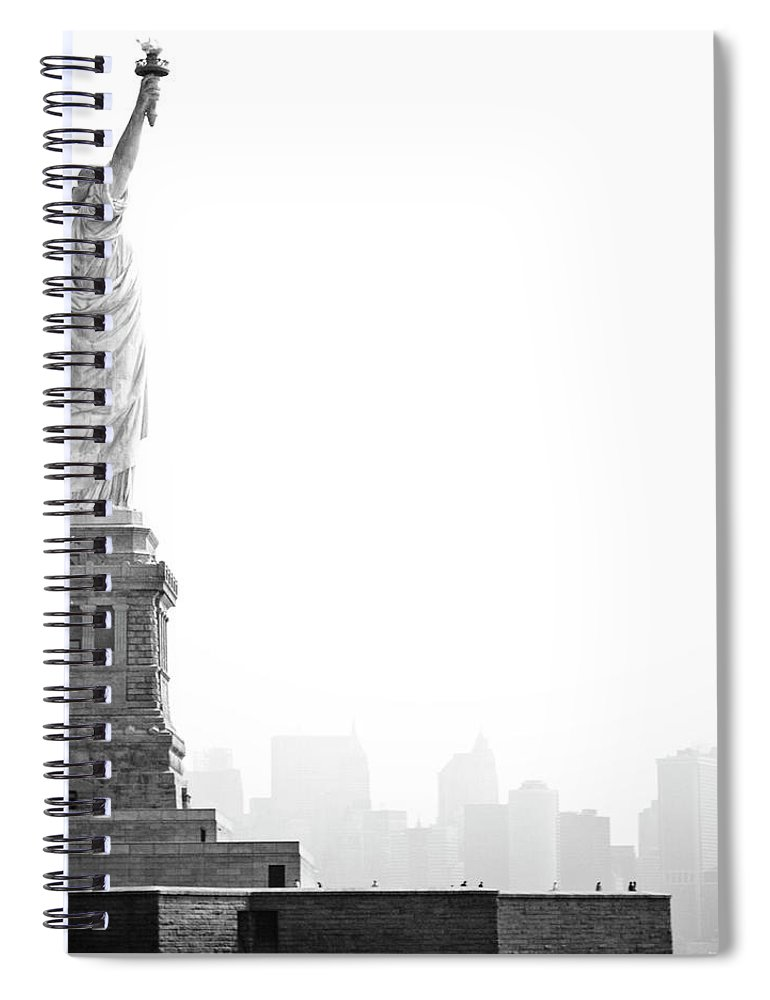 Statue Spiral Notebook featuring the photograph Statue Of Liberty by Image - Natasha Maiolo