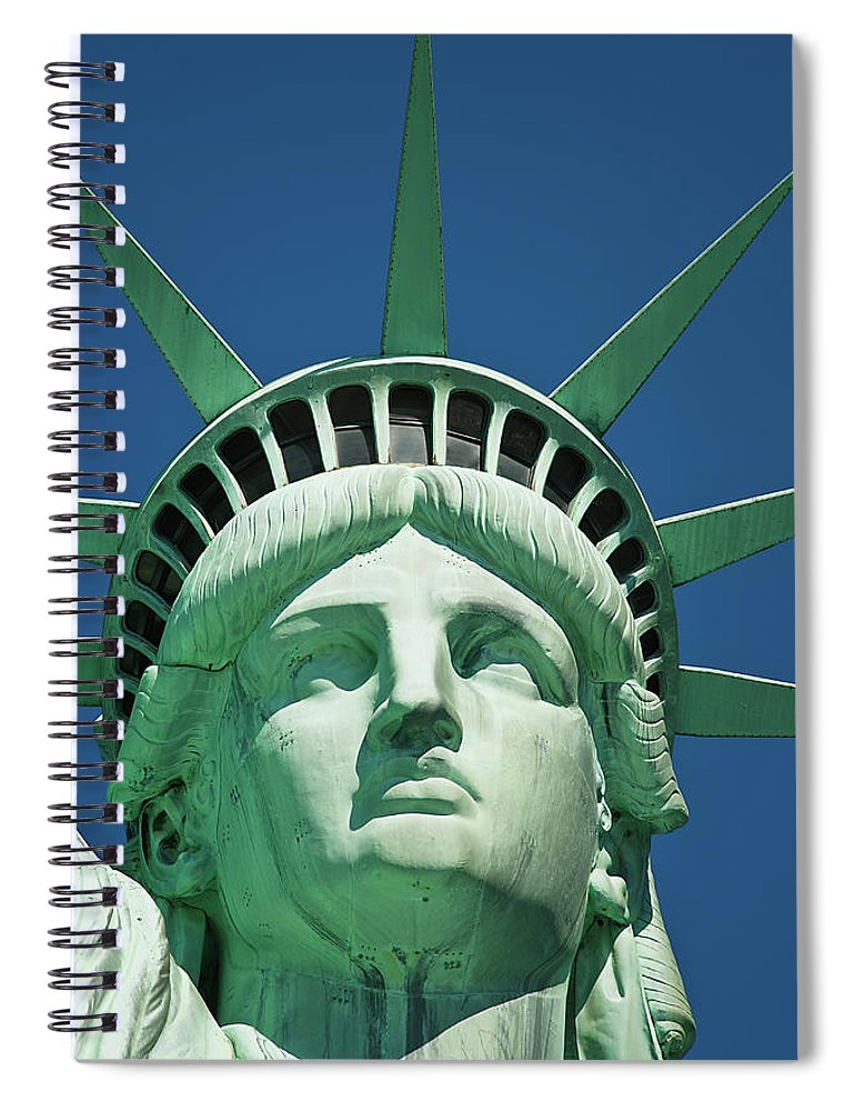 Crown Spiral Notebook featuring the photograph Statue Of Liberty by Tetra Images