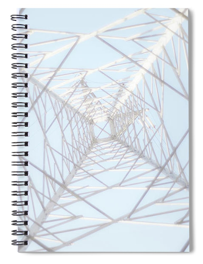 Radial Symmetry Spiral Notebook featuring the photograph Steel Tower by Kaneko Ryo