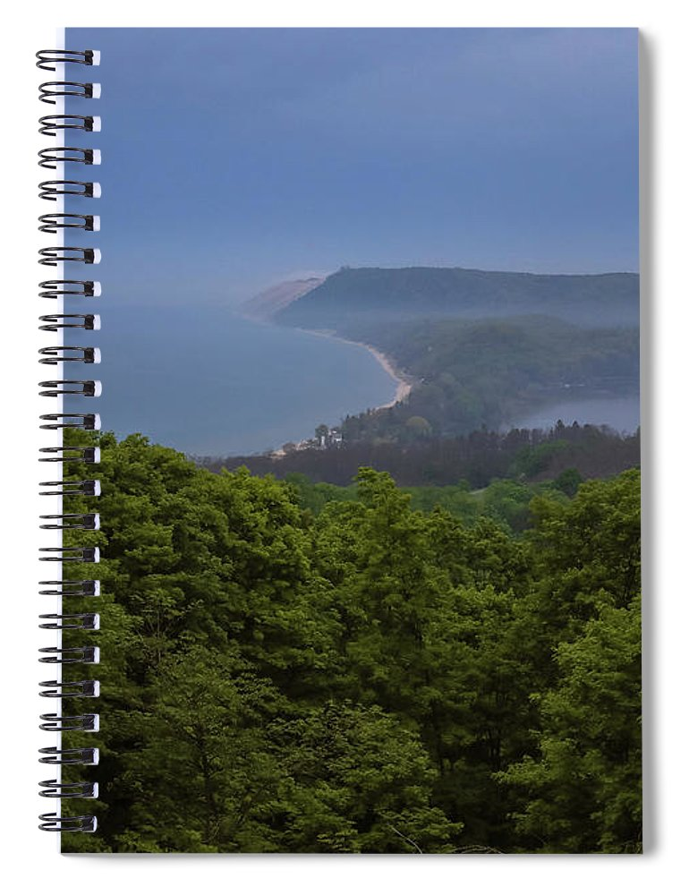 Sleeping Bear Dunes Lakeshore Spiral Notebook featuring the photograph Stormy Day On Sleeping Bear Dunes by Dan Sproul