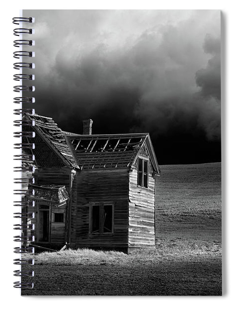 Grass Spiral Notebook featuring the photograph Stormy Weather by Davealan