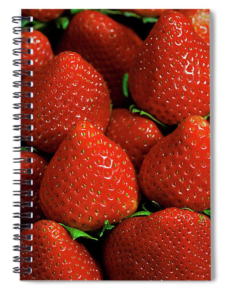 Large Group Of Objects Spiral Notebook featuring the photograph Strawberry Cliche by By Ken Ilio