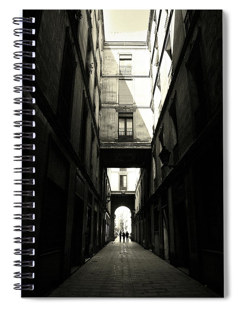 Arch Spiral Notebook featuring the photograph Street In Barcelona by Maria Fernandez