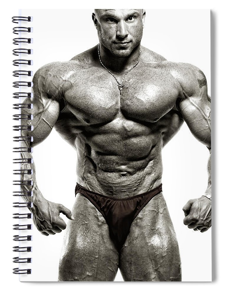 Abdominal Muscle Spiral Notebook featuring the photograph Strong Male Model by Spanic