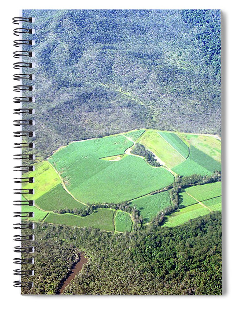 Cairns Spiral Notebook featuring the photograph Sugar Canefields Carved Out Of Forest by Photography By Mangiwau