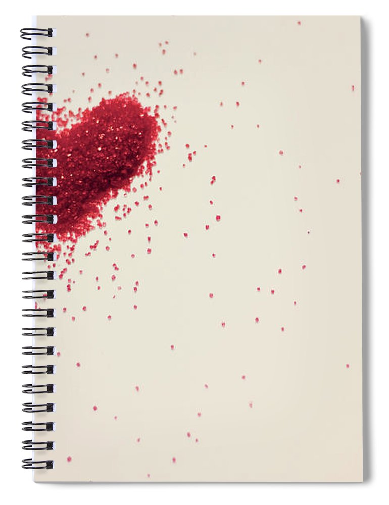 Art Spiral Notebook featuring the photograph Sugar Heart by Amy Weekley