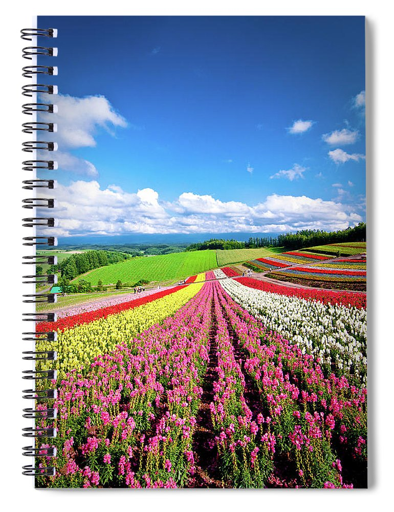 Tranquility Spiral Notebook featuring the photograph Summer Of Furano by Grace's Photo