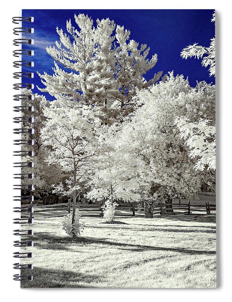 Steve Harrington Spiral Notebook featuring the photograph Summer Park In Infrared by Steve Harrington