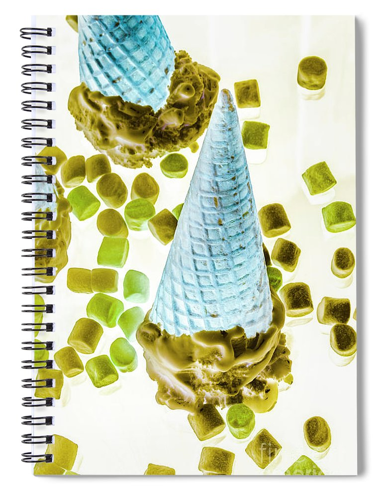 Sweet Spiral Notebook featuring the photograph Summer Tips And Parlour Tricks by Jorgo Photography - Wall Art Gallery