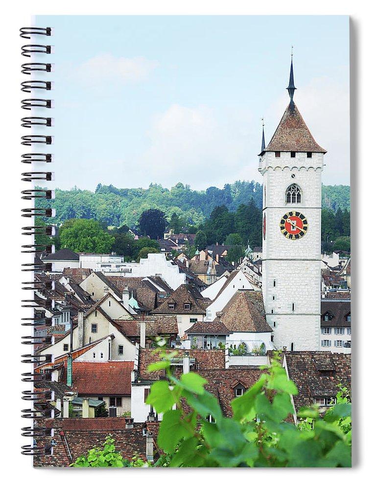 Outdoors Spiral Notebook featuring the photograph Summer View Of Schaffhausen by Oks mit