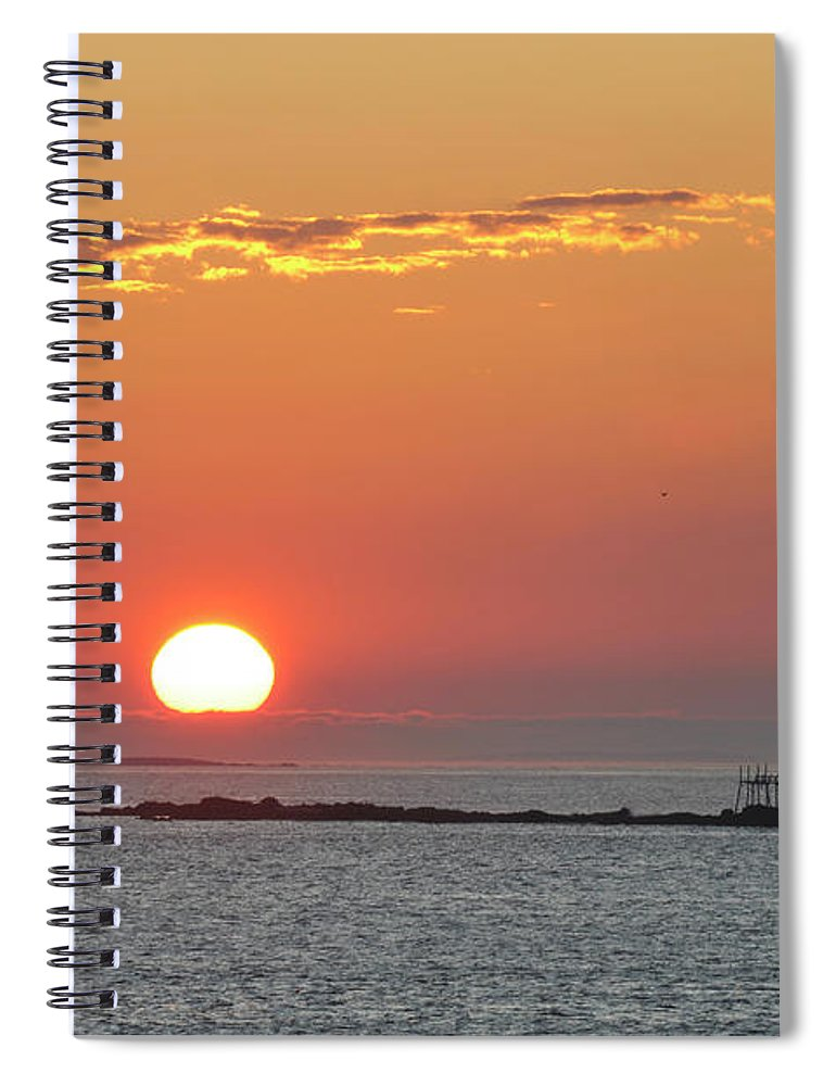 Scenics Spiral Notebook featuring the photograph Sunrise by Aimintang