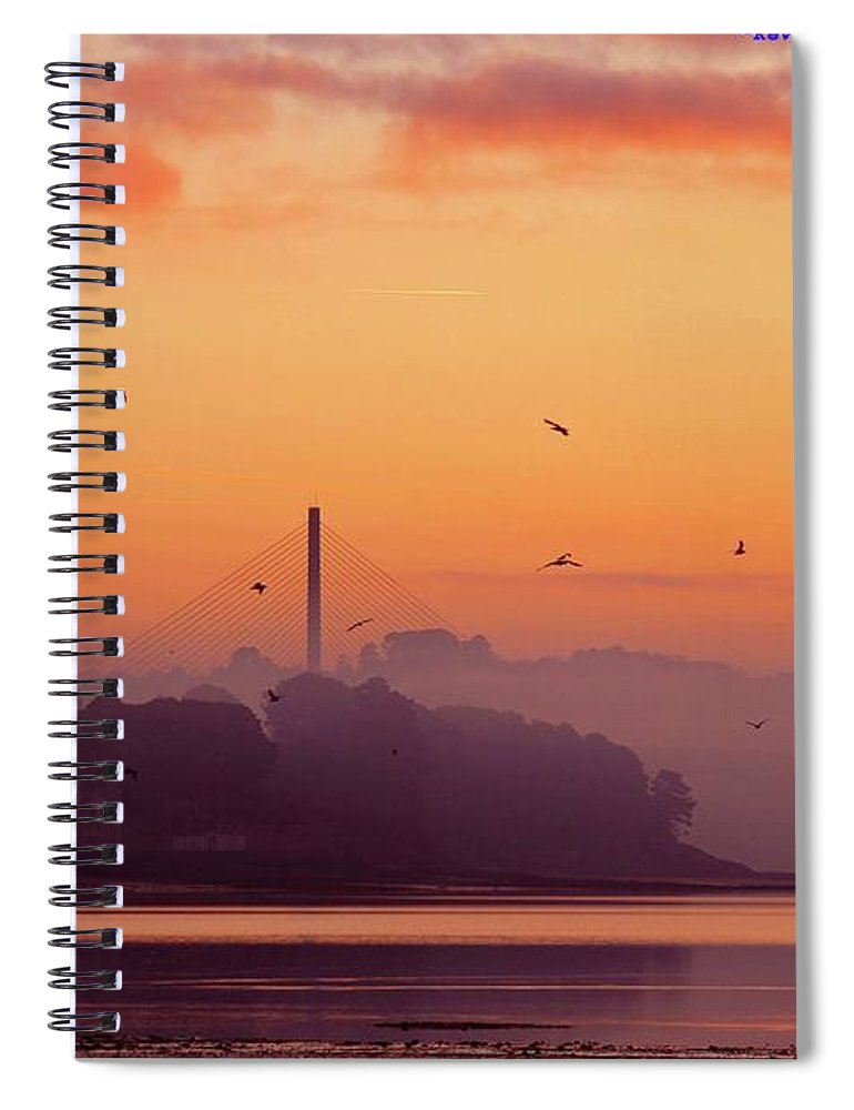 Scenics Spiral Notebook featuring the photograph Sunrise by All Images Taken By Keven Law Of London, England.
