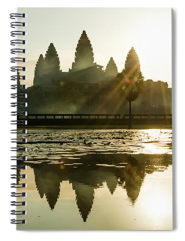 Tranquility Spiral Notebook featuring the photograph Sunrise At Angkor Wat by Matt Davies Noseyfly@yahoo.com