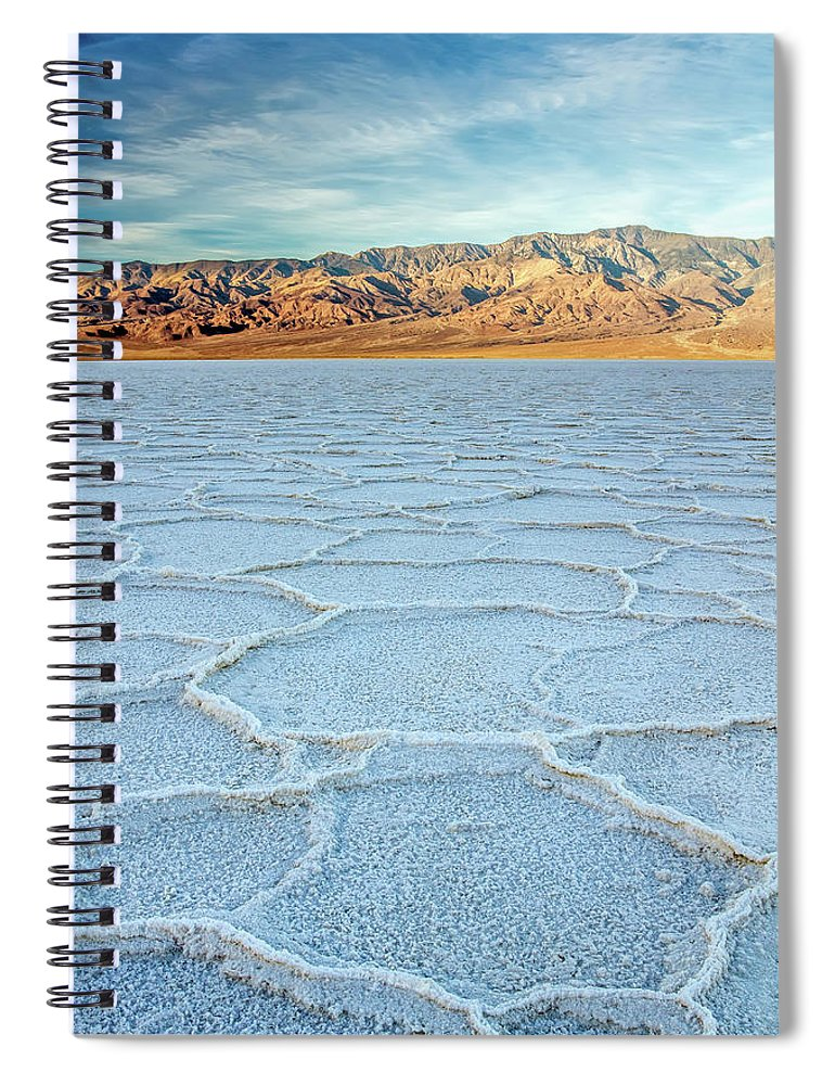 Scenics Spiral Notebook featuring the photograph Sunrise At Badwater, Death Valley by Pierre Leclerc Photography