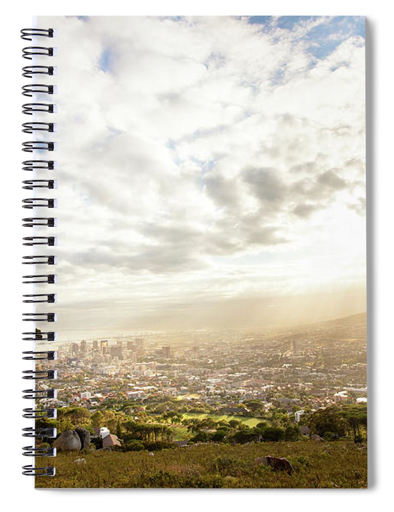 Scenics Spiral Notebook featuring the photograph Sunrise Over Cape Town South Africa by Epicurean