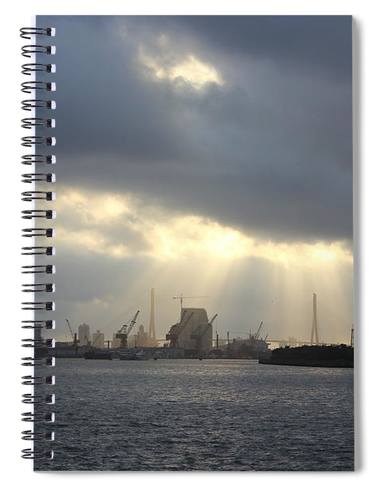 Tranquility Spiral Notebook featuring the photograph Sunrises On The Bund Img_2525 by Xiaozhu Yuan