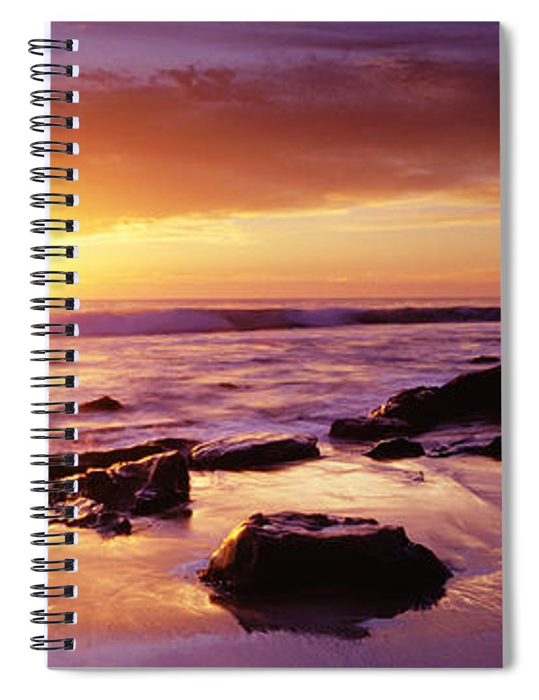 Scenics Spiral Notebook featuring the photograph Sunset At Laguna Beach by Jason v