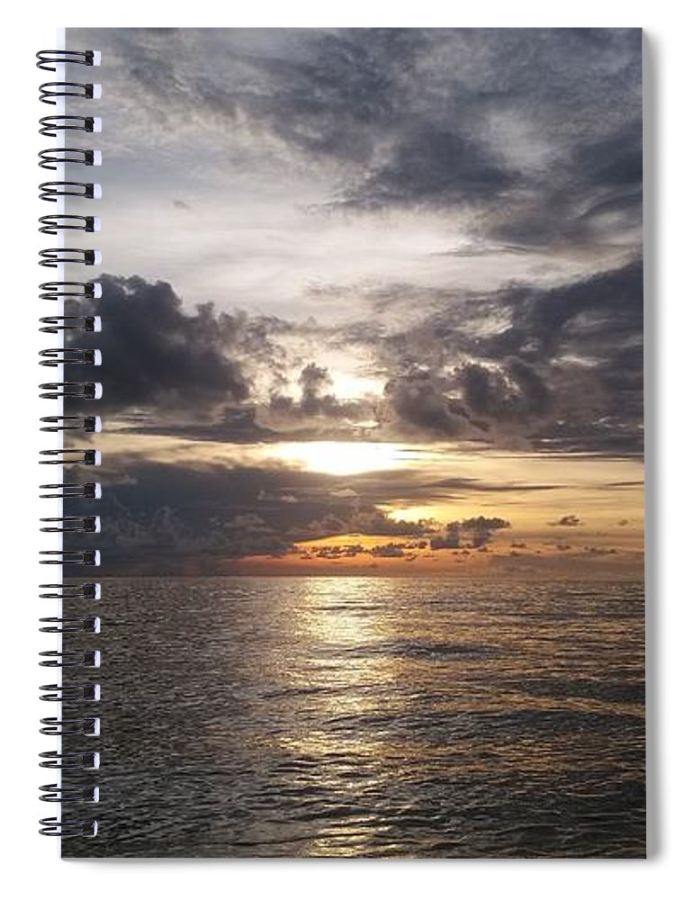 Sunset Spiral Notebook featuring the photograph Sunset by Cora Jean Jugan