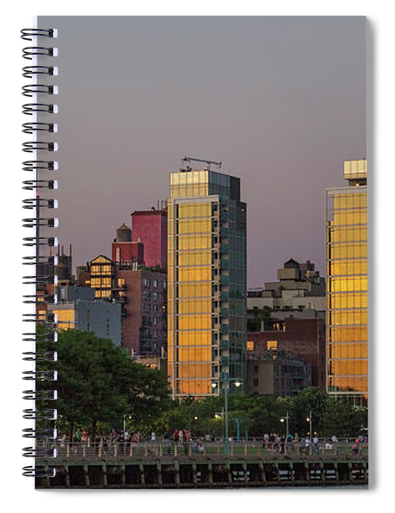 New Spiral Notebook featuring the photograph Sunset In The City by Betsy Knapp
