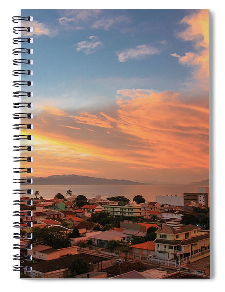 Tranquility Spiral Notebook featuring the photograph Sunset Over Florianopolis by Dircinhasw