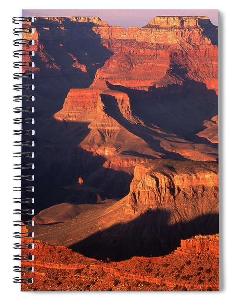 Toughness Spiral Notebook featuring the photograph Sunset Over Grand Canyon by By Tiina Gill