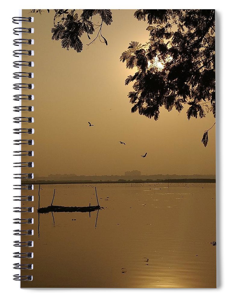 Sunset Spiral Notebook featuring the photograph Sunset by Priya Hazra