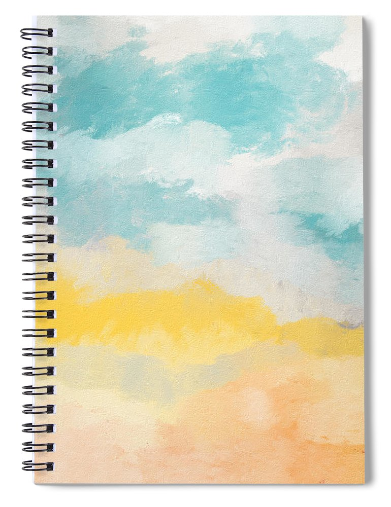 Landscape Spiral Notebook featuring the mixed media Sunshine Day- Art by Linda Woods by Linda Woods