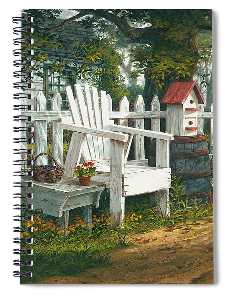 Michael Humphries Spiral Notebook featuring the painting Sunshine Serenade by Michael Humphries