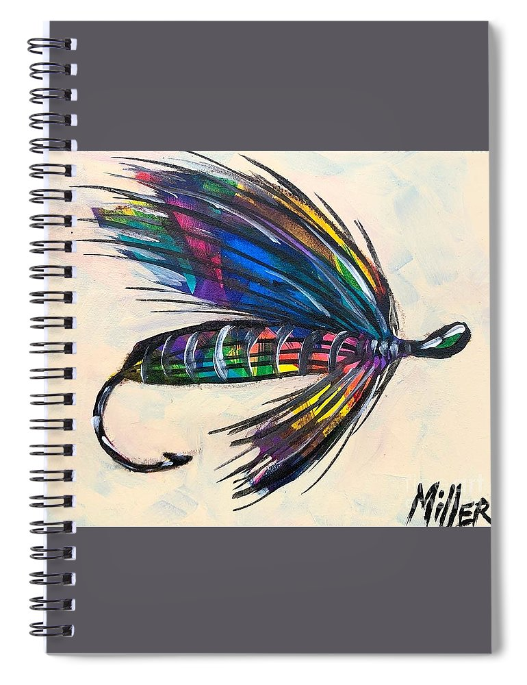 Colorado Artist Tracy Miller Spiral Notebook featuring the painting Super Fly II by Tracy Miller