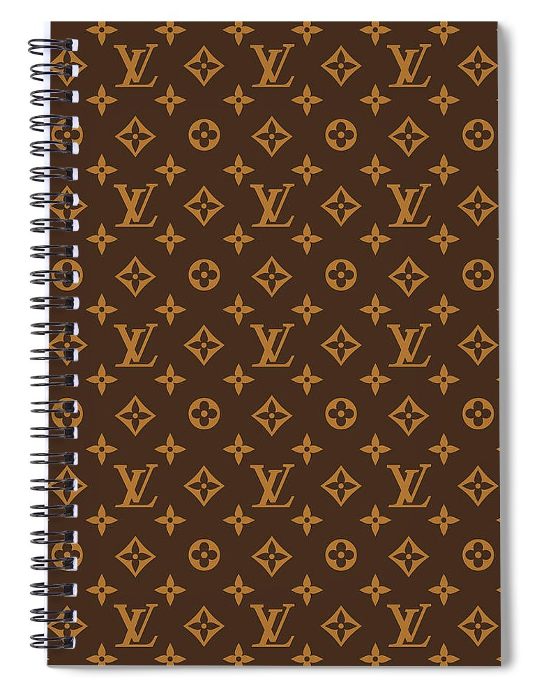 Supreme Spiral Notebook featuring the digital art Supreme pattern louis vuitton brown by Supreme Ny