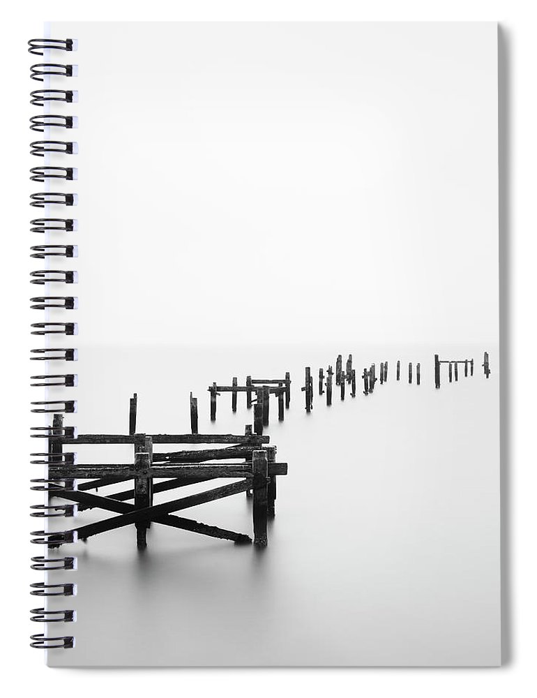 Tranquility Spiral Notebook featuring the photograph Swanage Pier by Doug Chinnery