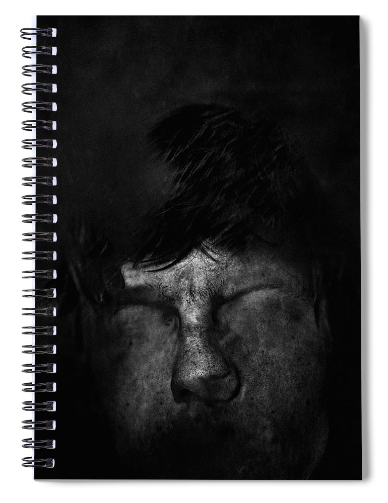 People Spiral Notebook featuring the photograph Sweden, Stockholm, Distorted Face by Win-initiative