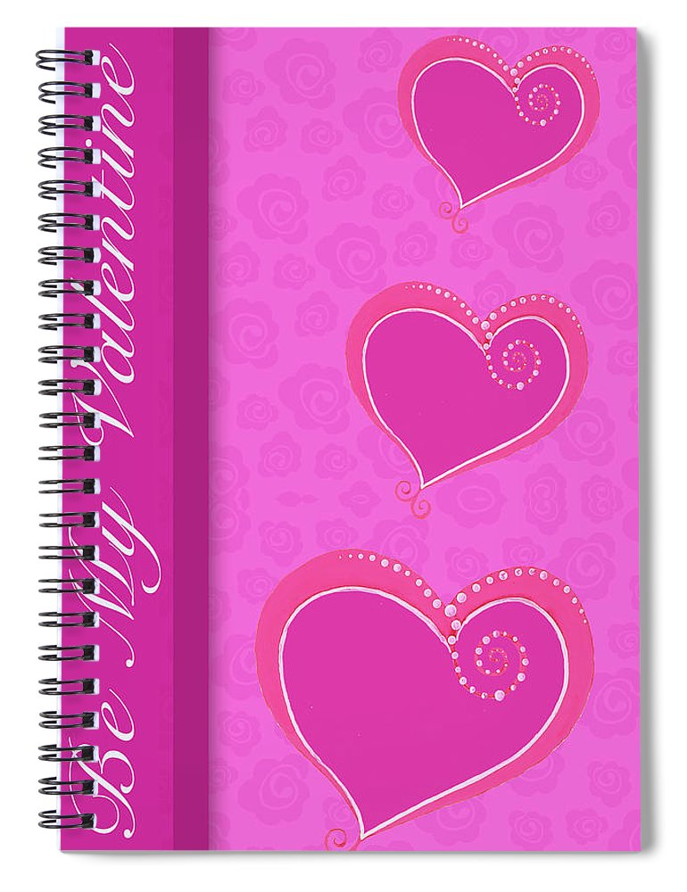 Sweet Spiral Notebook featuring the mixed media Sweet Pink Valentines IIi by Andi Metz