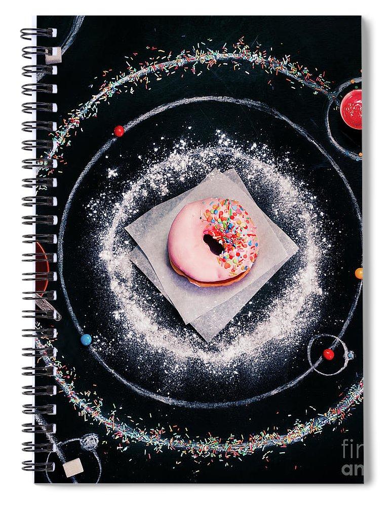 Breakfast Spiral Notebook featuring the photograph Sweet Solar System by Dina Belenko